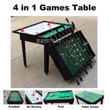 4 in 1  Sports Games Foosball Football Billiard Table Tennis Hockey