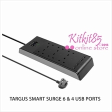 Genuine Targus Smart Surge 6 Socket Surge Protector 4 USB PORT APS11AP