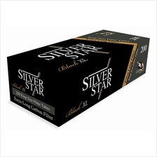 Silver Star (5902047174421) Carbon  & Black Extra Long Filter Tube 200pieces /
