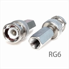 BNC RG6 Twist On Male Plug Connector