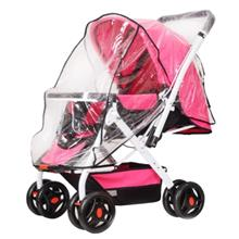 FOLDING TRANSPARENT BABY STROLLER RAIN-PROOF WIND-PROOF COVER