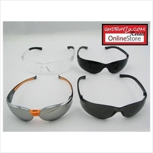 SAFETY GLASSES GOGGLES - BLACK / CLEAR / UV PROTECTION