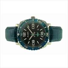 Alba Men Leather Date Watch VJ32-X277BBLL