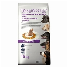 TropiDog Adult Medium & Large Breeds with Lamb & Rice 15kg