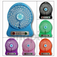 Mini Portable USB Rechargeable 3 Speed Cooling Fan with LED Light
