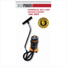 EuroPower 1500W 30Liter Commercial Wet & Dry Vacuum Cleaner