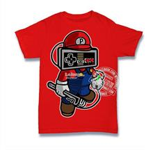 Mario Player Head T-shirt Custom Tee