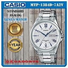 CASIO MTP-1384D-7A2V STANDARD Analog Mens Watch Day Date WR100 S.Steel