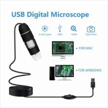 2MP 1000X 8-LED USB Digital Microscope Endoscope with Stand