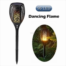 96 LED Solar Torch Light Outdoor Flickering Moving Flame Garden Lamp