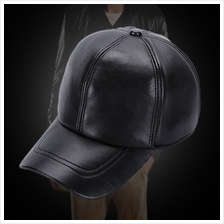Men's Hat 2018 Winter New Style Thicken Warm Genuine Leather Baseball Caps Sna