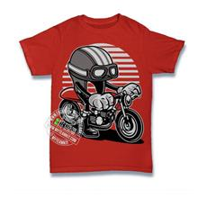 Cafe Racer Helmet T-shirt Custom Tee