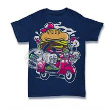 Burger Scooter T-shirt Custom Tee