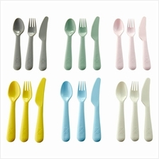 IKEA Kalas New 18 Piece Cutlery Set Assorted Colours Mixed Colours