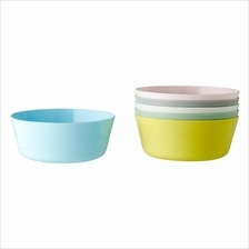 IKEA Kalas New 6 Piece Bowl Mixed Colours Assorted For Children Kids