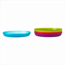 IKEA Kalas 6 Piece Plate Assorted Colours Mixed Colours For Children