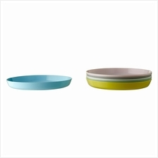 IKEA Kalas New 6 Piece Plate Assorted Colours Mixed Colours Children