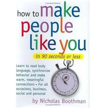 How to Make People Like You in 90 Seconds or Less worth USD15.95