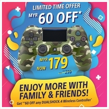 PS4 Dualshock 4 Wireless Controller Green Camouflage (CUH-ZCT2) (NEW)