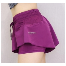 Breathable Athletic Skort Stretchable Double Layer Fitness Wear