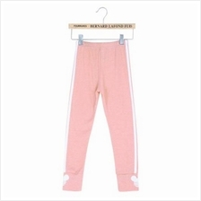 FASHION GIRLS OUTDOOR SPORT STRIPED LEGGINGS (PINK)