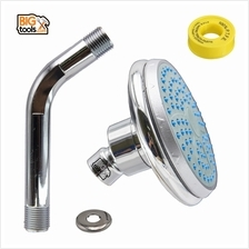 ABS 100mm Fixed Ball Joint Shower Head With 100mm Shower Arm And Seal