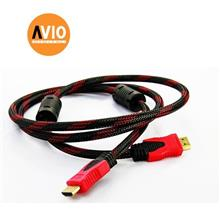 AVIO HDMI1.5 HDMI 1.5 Meter Male to Male cable with Nylon Net Full Cop