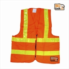 BIGTOOL VE02 Reflective Safety Vest Neon Orange with Zip