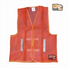 BIGTOOL 10 Pcs Economic Safety Vest Lime Orange Netting Type