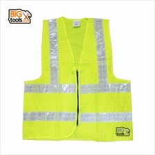 BIGTOOL VE02 Reflective Safety Vest Neon Yellow with Zip