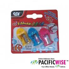 SDI Fish Shape Sharpener(3pcs/pkt)