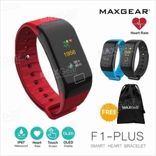 MAXGEAR SW-F1 PLUS Colour Screen Heart Rate Smartband Fitness Tracker