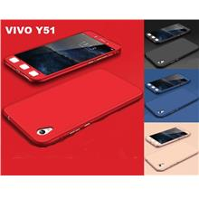360 Full Body Protection Case + Tempered Glass For VIVO Y51