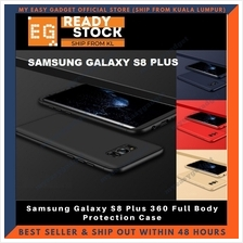 Samsung Galaxy S8 Plus 360 Full Body Protection Case + Tempered Glass