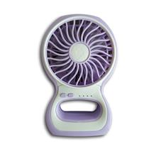 Mini Portable Rechargeable 3 Speed USB Fan with LED Light