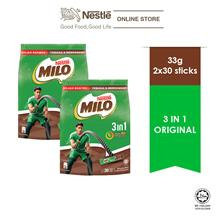 NESTLE MILO 3IN1 ACTIV-GO 30 Sticks 33g x2 packs