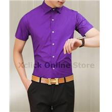 Men's Slim shirt - Korean version of Slim short-sleeved shirt