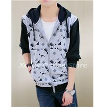 Men sports Slim hooded Jacket Korean tide