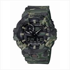 Casio G-Shock Camouflage Khaki Front Button Design GA-700CM-3ADR