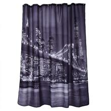 CITY NIGHT VIEW PATTERN WATERPROOF BATHING SHOWER CURTAIN POLYESTER
