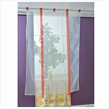 140 X 140CM EUROPEAN WAVE BLINDS STITCHING COLORS VOILE PANEL WINDOW CURTAIN F