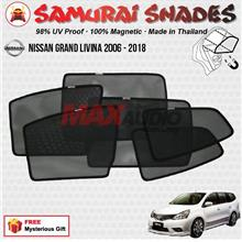 NISSAN GRAND LIVINA (6pcs) SAMURAI SHADES 100% Magnetic Sun Shades