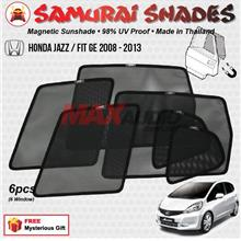 HONDA JAZZ 2008 - 2013 (6pcs) SAMURAI SHADES 100% Magnetic Sun Shades