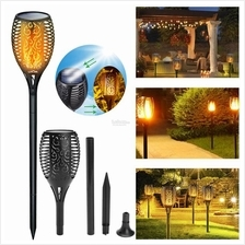 Solar 96 LED Dancing Flame Torch Landscape Lamp Waterproof Outdoor Fli