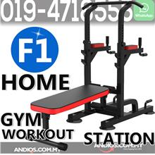 F1 Pull-up Chin-Up Tower Exercise Bench Home Gym Workout Station
