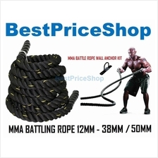 12m 38mm 50mm MMA Rope Battling Training Muscle Ropes Martial Art Gym