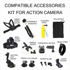 Action Camera Accessories Kit Compatible - Yi GoPro Mijia Sport Cam
