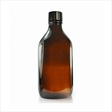 500ml Bottle Round Amber Glass / Essential Oil / Screw cap and stopper