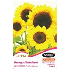 F114 FLOWER SEED CUT SUNFLOWER BENIH BUNGA MATAHARI