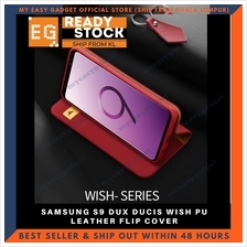 DUX DUCIS WISH PU LEATHER FLIP COVER FOR SAMSUNG S9